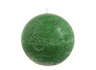 Zelená kulatá svíčka - 8,5*8,5*8,5 cm - 30 hod.