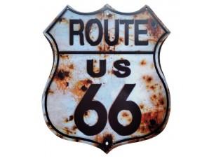 Nástěnná kovová cedule Route US 66 - 30*35 cm