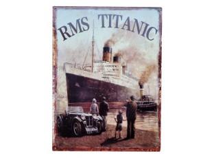 Nástěnná rero kovová cedule Titanic - 25*33 cm
