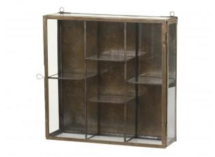 Mosazná antik kovová nástěnná skříňka Folny - 31*9*31cm