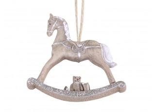 Mocca vánoční ozdoba houpací koník - 8*2*7cm