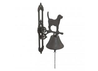 Litinový zvonek s peskem - 34*17*10 cm