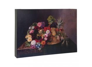 Obraz zatiší s květinami - 30*4*22 cm