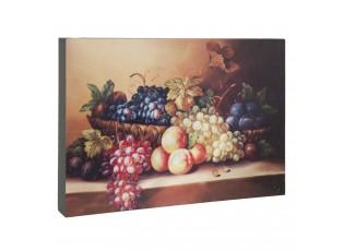 Dřevěná deska obraz zátiší s ovocem - 30*4*22 cm