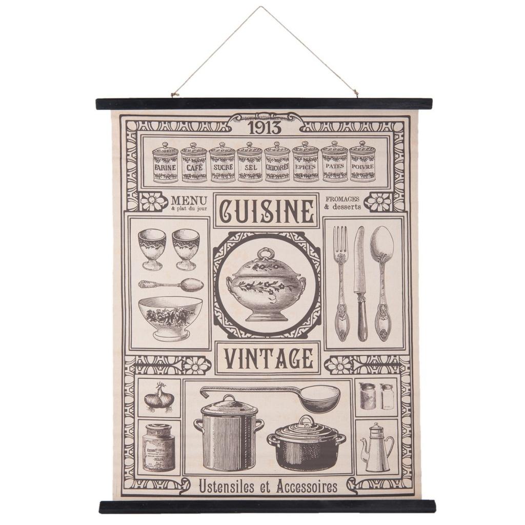Nástěnná mapa Cuisine - 80*2*100 cm