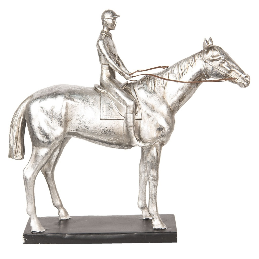 Stříbrná socha Jezdec na koni