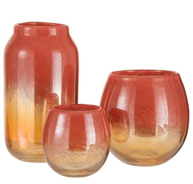 Oranžová skleněná váza /svícen Oriental orange